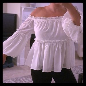 Off shoulder woman's top